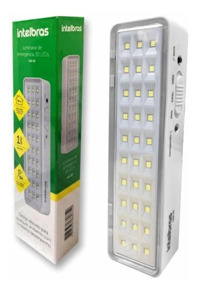 Kit 10 Luminárias Emergência Intelbras Emergência 30 Leds