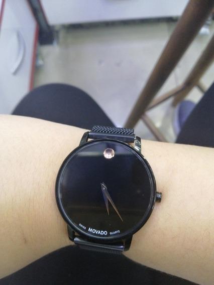 Relógio Liso Pulseira Ima