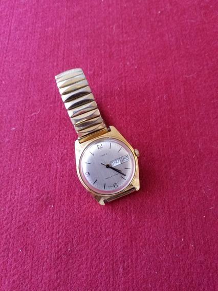 Relogio Timex Calendário Duplo Vintage Social Masculino