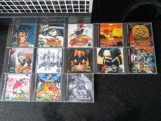 Pacote De 13 Jogos Originais De Neo Geo Cd