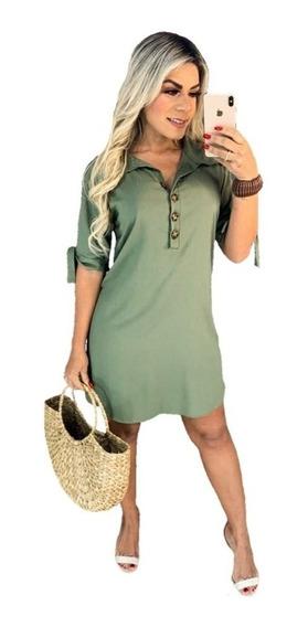 Vestido Feminino Chemise Camisao Viscolinho Roupas Chamisse