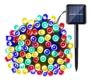 Serie Led Solar 12m Automática Recargable Varios Colores