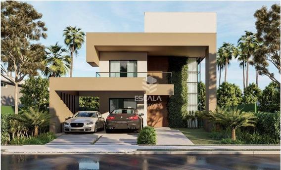 Casa Duplex Com 4 Quartos À Venda, 220,00 M², Condomínio Fechado, Financia - Centro - Aquiraz/ce - Ca0319