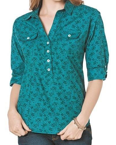 Blusa Casual Dama Gpn Pk02 Verde Chi-xgd 71908 Oferta T4*