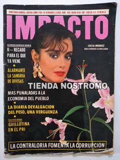 Lucia Mendez En La Revista Impacto 1987