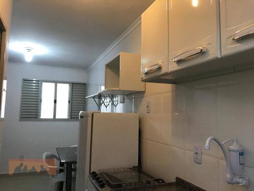 Kitnet Com 1 Dormitório Para Alugar, 20 M² Por R$ 500,00/mês - Cidade Universitária - Campinas/sp - Kn1117