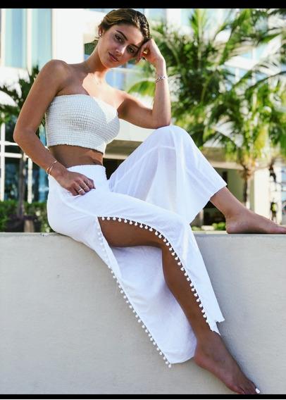 Pantalon Dama De Manta 100% Algodón Ideal Para La Playa