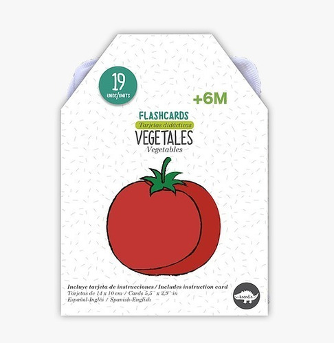 Flash Card Colores - Tarjetas De Vegetales