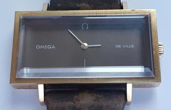 Omega De Ville Vintage Em Ouro Maciço Todo Original E Único