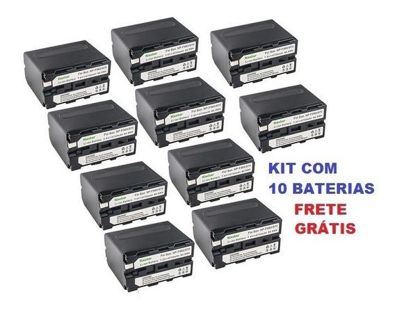 Bateria Para Filmadora Sony Kastar Np-f970 - Kit 10 Baterias