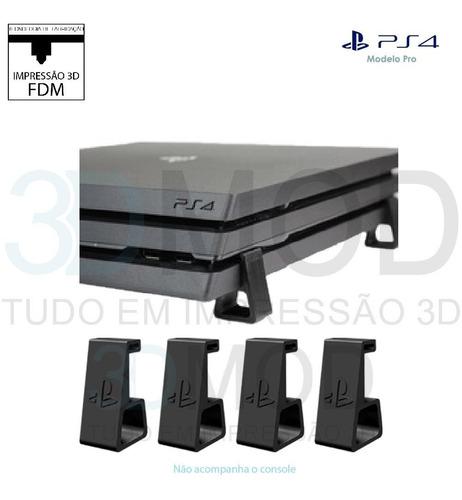 Imagem 1 de 1 de Pezinho Ps4 Playstation Pro Horizontal Suporte De Mesa