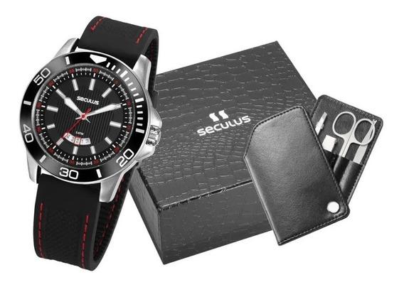 Relógio Esportivo Masculino Seculus Original Garantia Nfe
