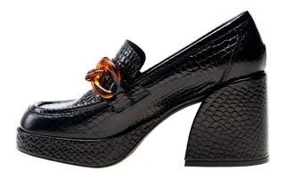 Zapato Alto Belem Negro Las Pepas