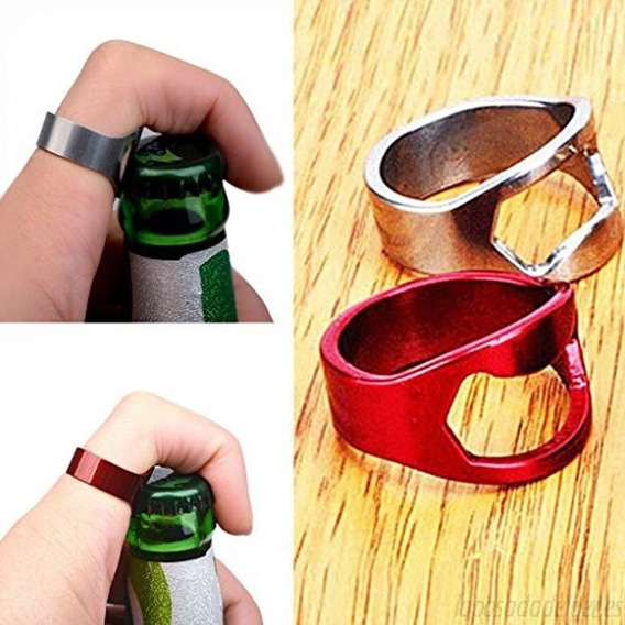 Anillo Destapador Acero Inoxidable Botellas Surtido 5pz Full