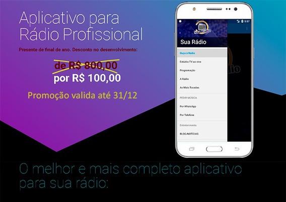 Aplicativo Para Rádio Ou Tv (o Mais Completo) Camera E Msg