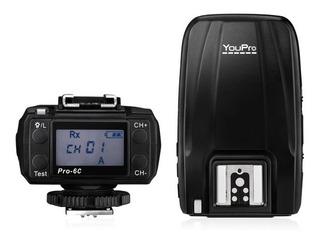 Radio Flash Canon Pro 6c 2.4g Sem Fio E -ttl 1 / 8000s Hss #