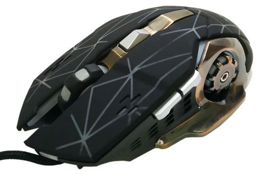 Mouse Gamer Profissional Xtrad Xd-x9 1600 2400 3200dpi 1,8m