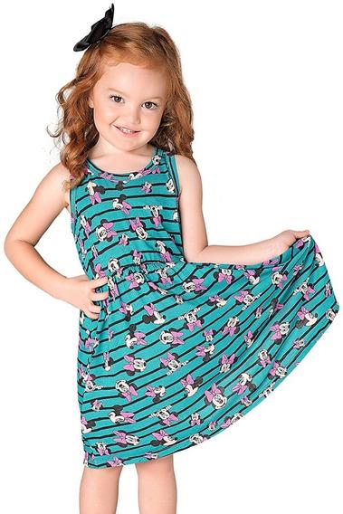 Vestido Infantil Bebê Disney Minnie Stripes - Cativa D8005