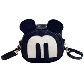 Bolsa Feminina Moda Menina Mickey Minnie Couro Menina Linda