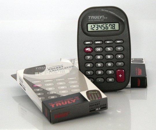 Calculadora 318-a Truly 8 Dig Bateria E Solar Escolar Bolso