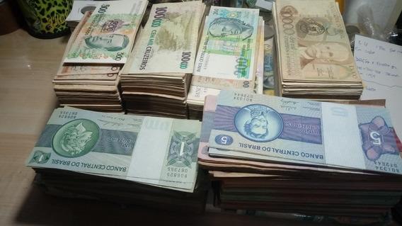 Lote 40 Cedulas Brasileiras 68,00