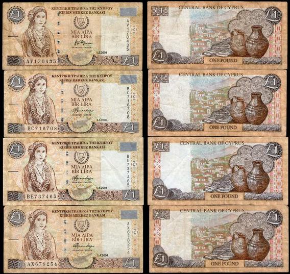 Spg Billete Chipre 1 Pound 2001/2004 Pick 60 C