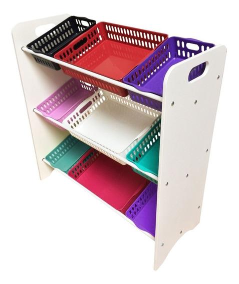 Organizador De Brinquedos Prateleiras E Caixas Colorida
