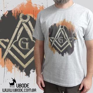 Camiseta Maçonaria Esquadro E Compasso Art - Ubode