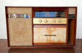 Rádio Vitrola Valvulado Abc A Voz De Ouro
