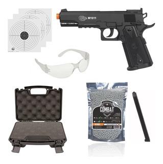 Kit Airsoft Pistola Co2 Cybergun Colt 1911 Slide Fixo 6mm