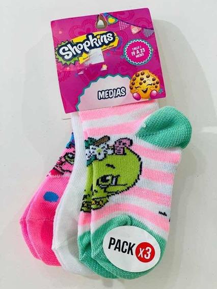 Pack X3 Medias Shopkins Niñas