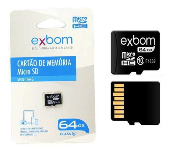 Cartão De Memória Micro Sd 64gb Classe 10 Exbom Stgd-tf64g