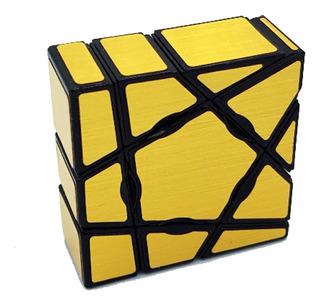 Cubo Rubik Cuboide 3x3x1 Floppy Yj Moyu Ghost - Dorado