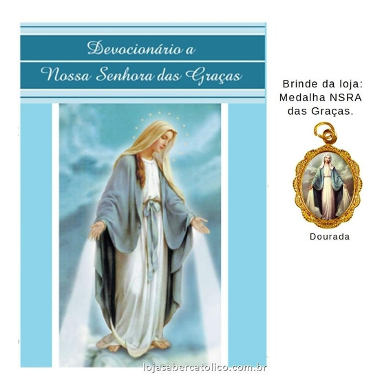 Livro Devocionário A Nossa Senhora Das Graças Com Medalha