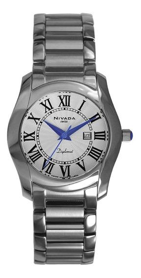 Reloj Nivada Swiss Diplomat Para Caballero Ng3677gacbr