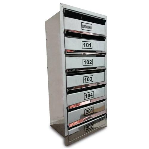 Caixa Correio Inox P/ Condominio - P/ 10 Aptos -50x60x23cm