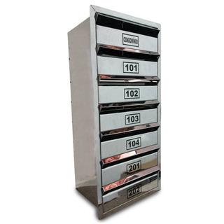 Caixa Correio Inox P/ Condominio - P/ 10 Aptos -100x30x23cm