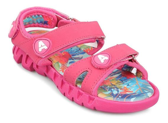 Sandalia Addnice Rosa Tropical Con Velcro - Nena Niña Ojotas