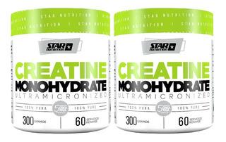 Creatina Star Nutrition 300 Gr X 2 Unidades Monohidratada