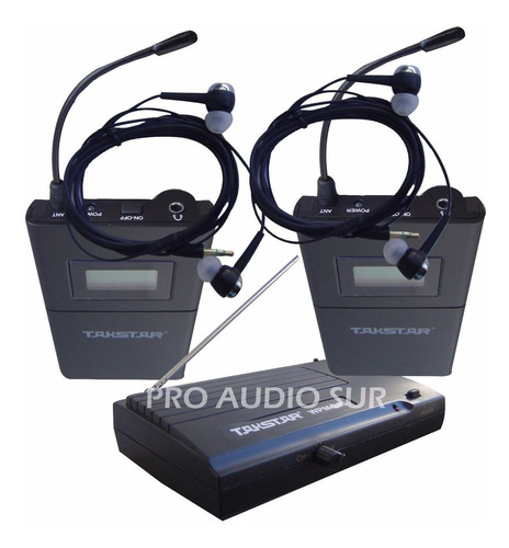 Monitor In Ear Takstar Wpm 200 Doble Intraural Inalambrico