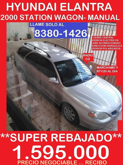 Hyundai Elantra 2000 St.w. Rebajado 1.595.000 Al 8380-1426