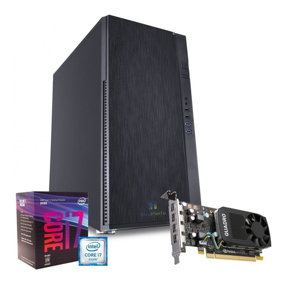 Workstation Intel Core I7-8700k, Quadro P1000, 16gb Ram, 1tb