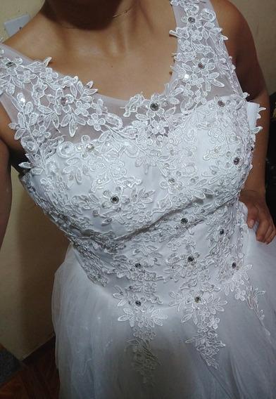 Vestido De Noiva - Estilo Princesa. Novo!