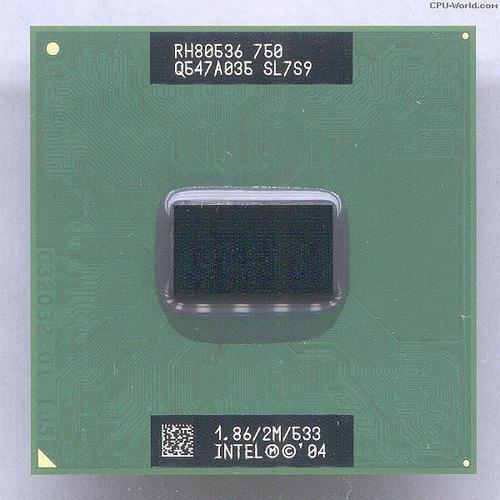 Processador Sl7s9 Intel Pentium M 750 1.86/2m/533 1.867ghz 1