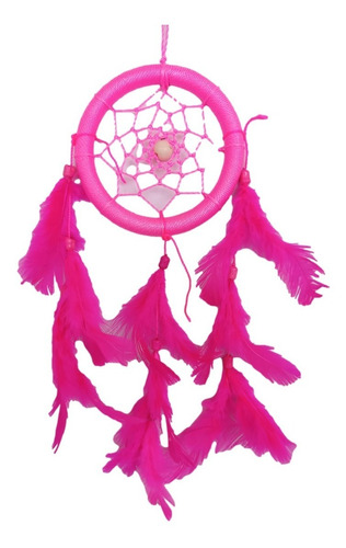 Imagem 1 de 2 de Filtro Dos Sonhos Com Penas  Rosa Ref: 1036