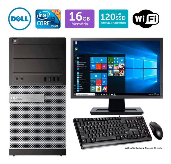 Computador Usado Dell Optiplex 7010mt I3 16gb Ssd120 Mon17w