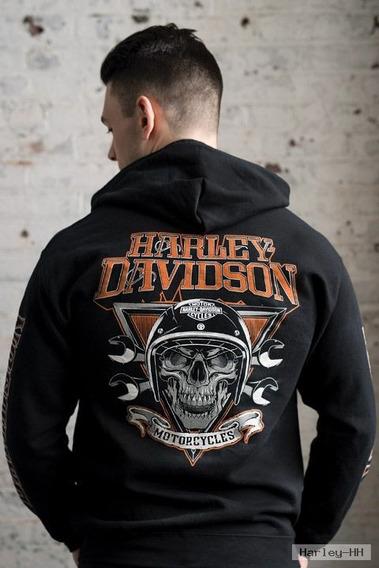 Harley Davidson Agasalho Casaco Rider Skull Zip-up Original