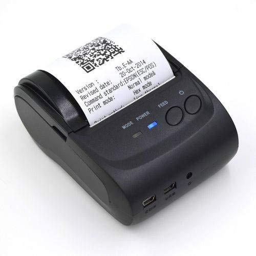 Mini Impressora Térmica Bluetooth Portátil + 1 Bobina Brinde