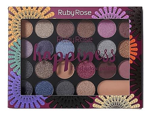 Imagem 1 de 2 de Paleta De Sombras Happiness / 22 Cores E 1 Primer- Ruby Rose