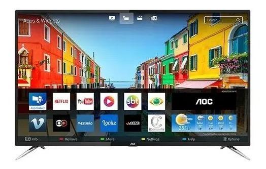 Smart Tv Led 50 Aoc Le50u7970s 4k Uhd Com Wi-fi, 2 Usb, 4 H